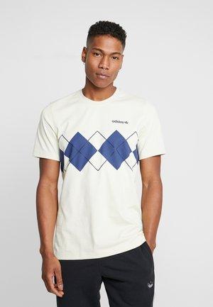ARGYLE TEE - T-shirt med print - sand