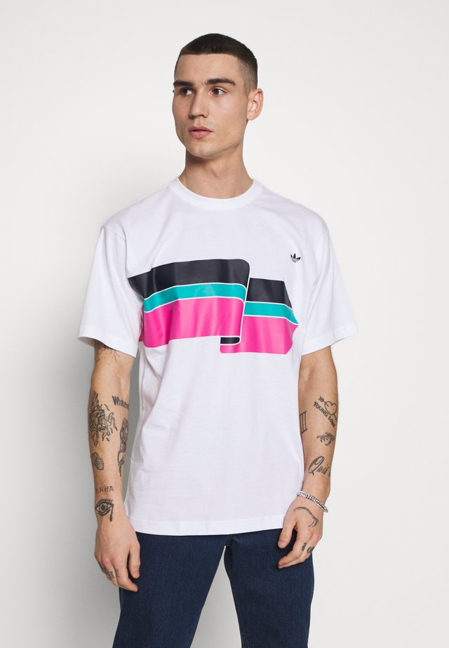 RIPPLE TEE - T-shirt con stampa - white