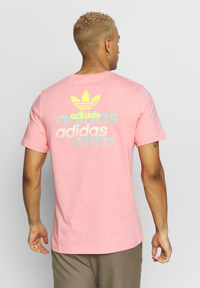 FRONT BACK TEE - T-shirt con stampa - pink