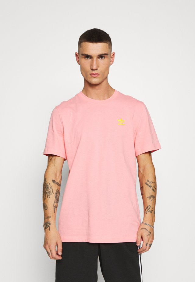 FRONT BACK TEE - T-shirt con stampa - glory pink/yellow