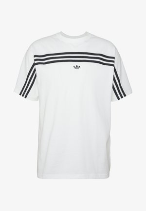 STRIPE TEE - Camiseta estampada - white/black