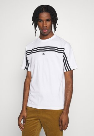 SPORT COLLECTION SHORT SLEEVE TEE - Print T-shirt - white/black