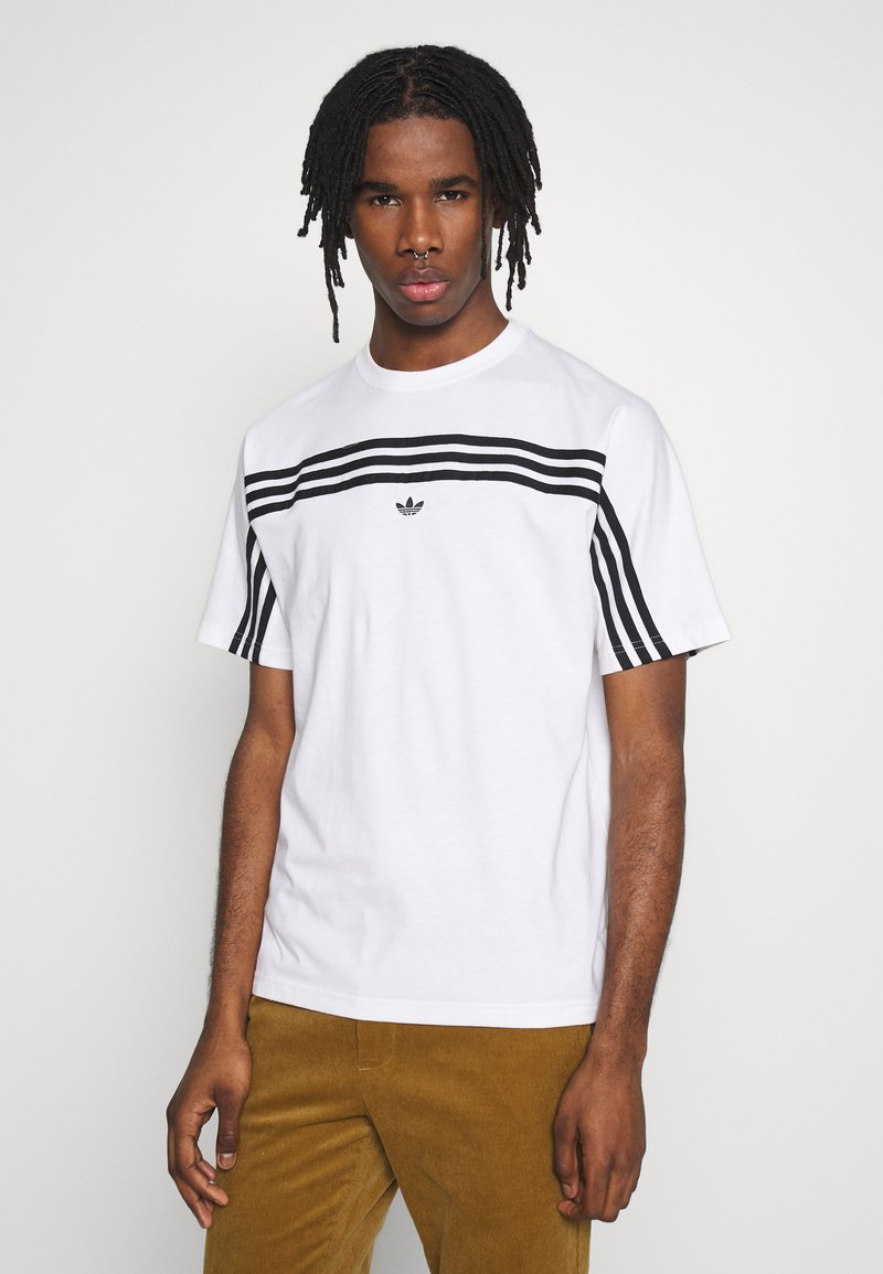 adidas Originals - SPORT COLLECTION SHORT SLEEVE TEE - Print T-shirt - white/black