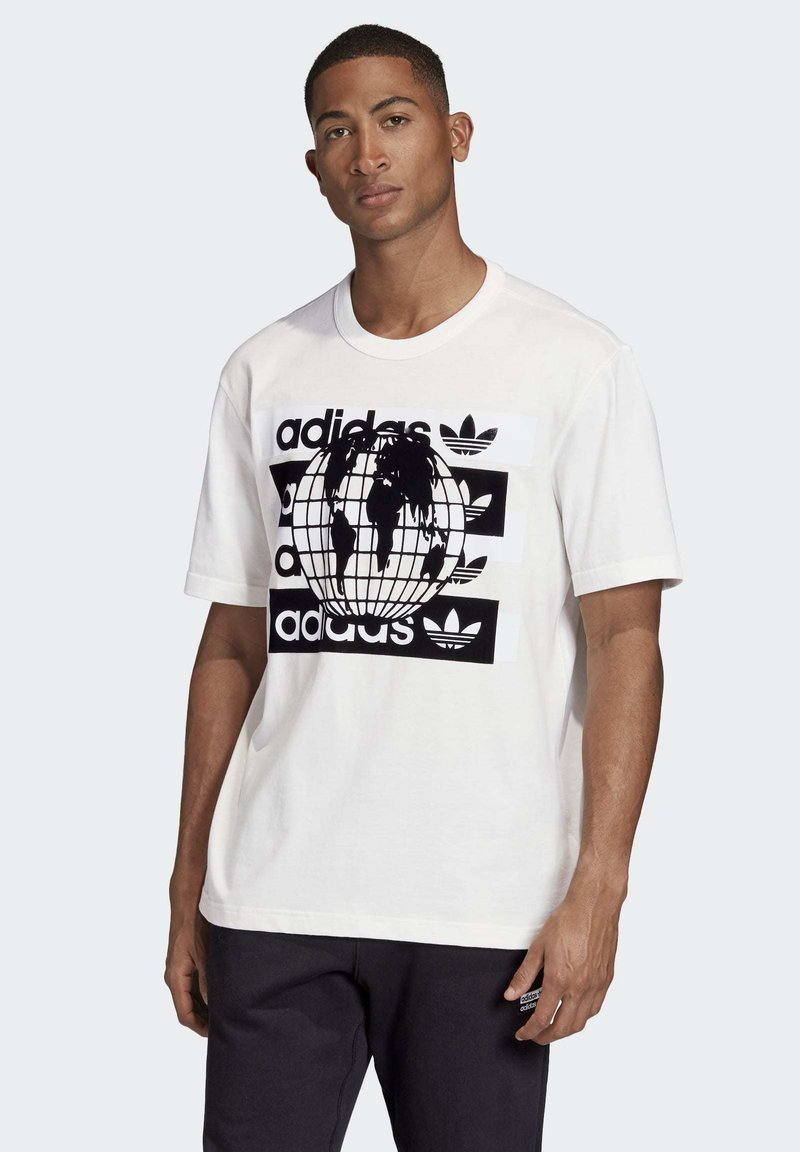 adidas Originals - R.Y.V. MESSAGE T-SHIRT - T-shirt imprimé - white