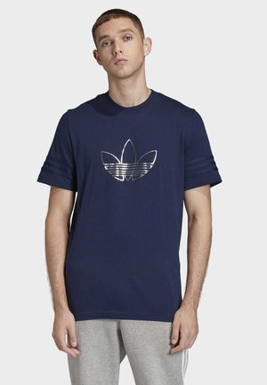 OUTLINE TREFOIL T-SHIRT - T-shirt print - blue