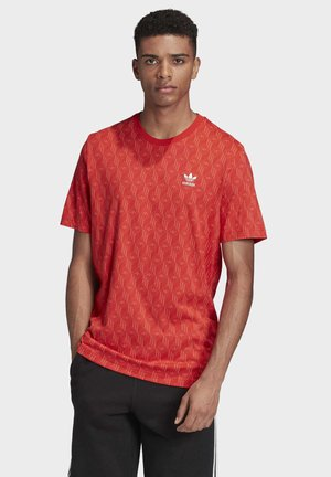 MONO ALLOVER PRINT T-SHIRT - T-shirt imprimé - red/orange