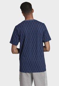 adidas Originals - MONO ALLOVER PRINT T-SHIRT - T-shirt print - blue - 1