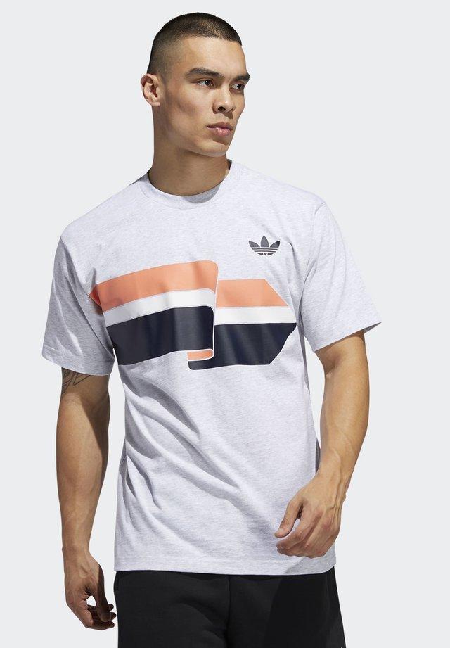 RIPPLE T-SHIRT - T-shirt con stampa - grey