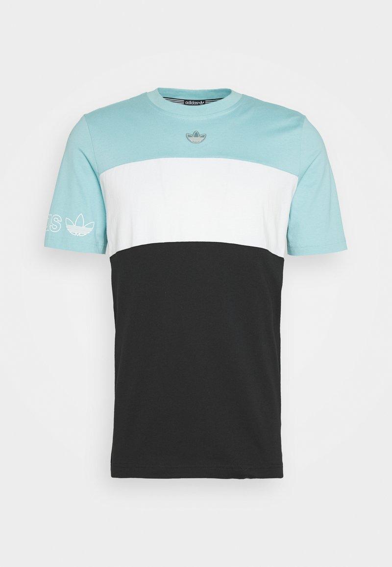 adidas Originals - PANEL TEE - T-shirt z nadrukiem - blue