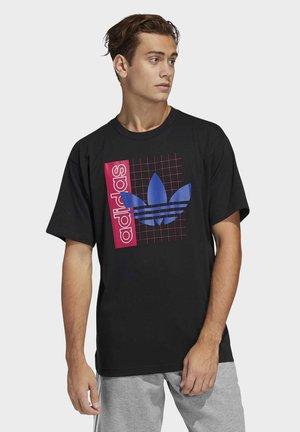 GRID TREFOIL T-SHIRT - T-Shirt print - black