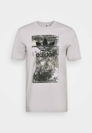 CAMO TONGUE TEE - Print T-shirt - grey