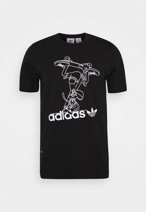 GOOFY TEE - T-shirt z nadrukiem - black/white