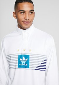 adidas Originals - RUGBY - Polo - white/grey/active teal/collegiate purple - 4