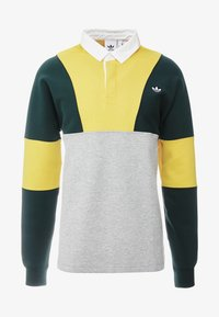 adidas Originals - RUGBY SHIRT - Pikeepaita - grey, yellow - 4
