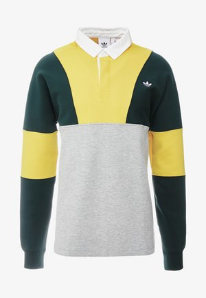 RUGBY SHIRT - Polo - grey, yellow