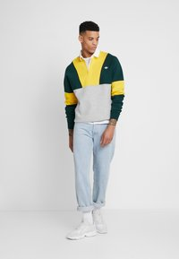 adidas Originals - RUGBY SHIRT - Pikeepaita - grey, yellow - 1