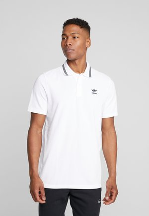 ADICOLOR TREFOIL SHORT SLEEVE POLO - Koszulka polo - white