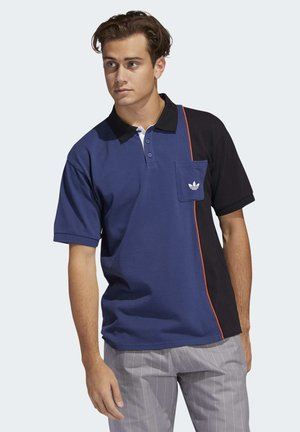 PIPED POLO SHIRT - Poloshirt - blue/black