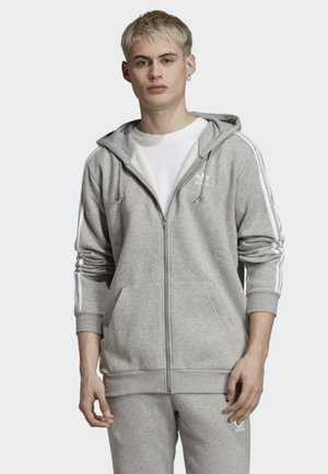 ADICOLOR 3 STRIPES HOODIE - veste en sweat zippée - grey