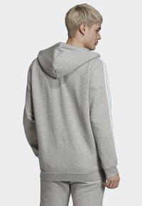 adidas Originals - ADICOLOR 3 STRIPES HOODIE - Felpa aperta - grey - 1