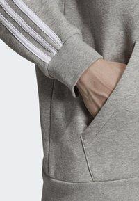 adidas Originals - ADICOLOR 3 STRIPES HOODIE - Felpa aperta - grey - 4