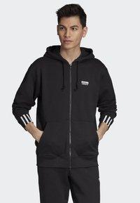 adidas Originals - FULL-ZIP HOODIE - Zip-up hoodie - black - 0