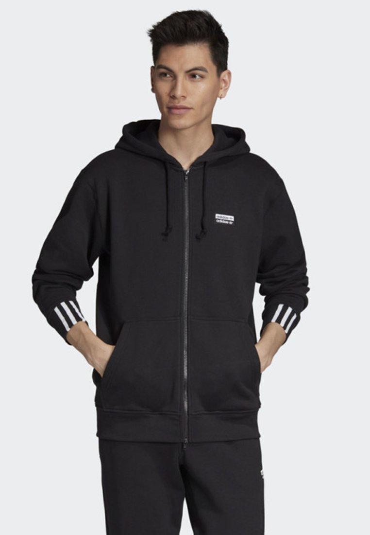 adidas Originals - FULL-ZIP HOODIE - Zip-up hoodie - black