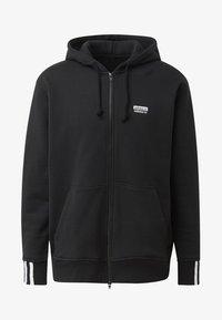 adidas Originals - FULL-ZIP HOODIE - Hoodie met rits - black - 4