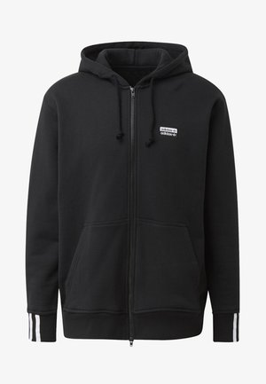 FULL-ZIP HOODIE - veste en sweat zippée - black