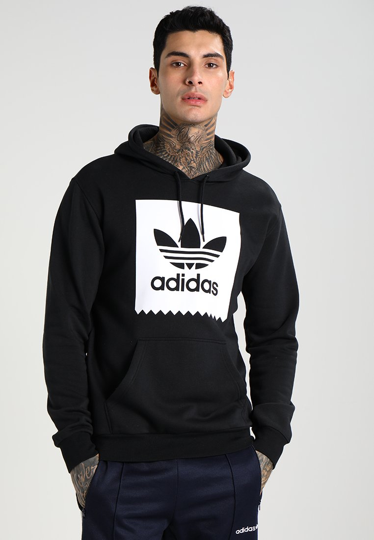 adidas Originals - SOLID BB - Kapuzenpullover - black/white