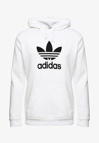 adidas Originals - TREFOIL HOODIE UNISEX - Bluza z kapturem - white - 3