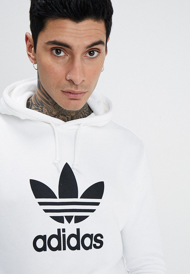 Adidas Originals Adicolor Trefoil Hoodie - White UK
