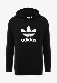 adidas Originals - ADICOLOR TREFOIL HOODIE - Luvtröja - black - 4