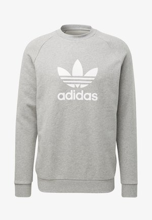 ADICOLOR TREFOIL PULLOVER - Sweatshirt - medium grey heather