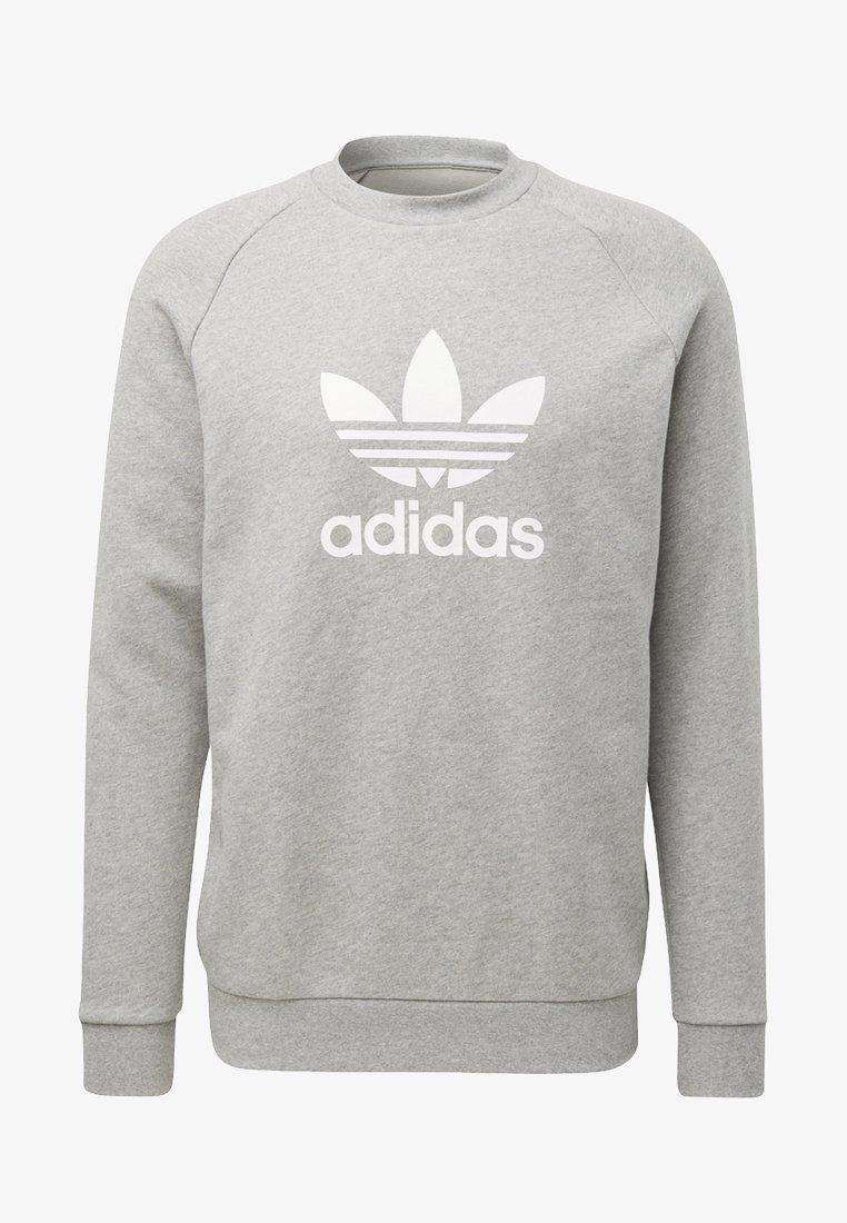 adidas Originals - ADICOLOR TREFOIL PULLOVER - Collegepaita - medium grey heather