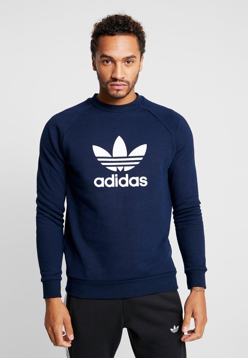 adidas Originals - ADICOLOR TREFOIL PULLOVER - Sweatshirt - collegiate navy