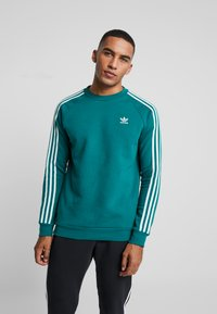 adidas Originals - STRIPES CREW - Sweatshirt - noble green/vapour green - 0