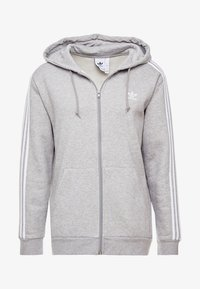 adidas Originals - 3-STRIPES  - Hoodie met rits - medium grey heather - 4