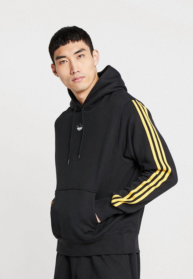 adidas Originals - BALL HOODY - Kapuzenpullover - black/bogold