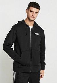 adidas Originals - HOODY - Hoodie met rits - black - 0