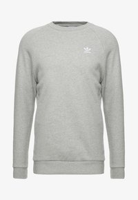 adidas Originals - ESSENTIAL TREFOIL PULLOVER - Sweatshirts - medium grey heather