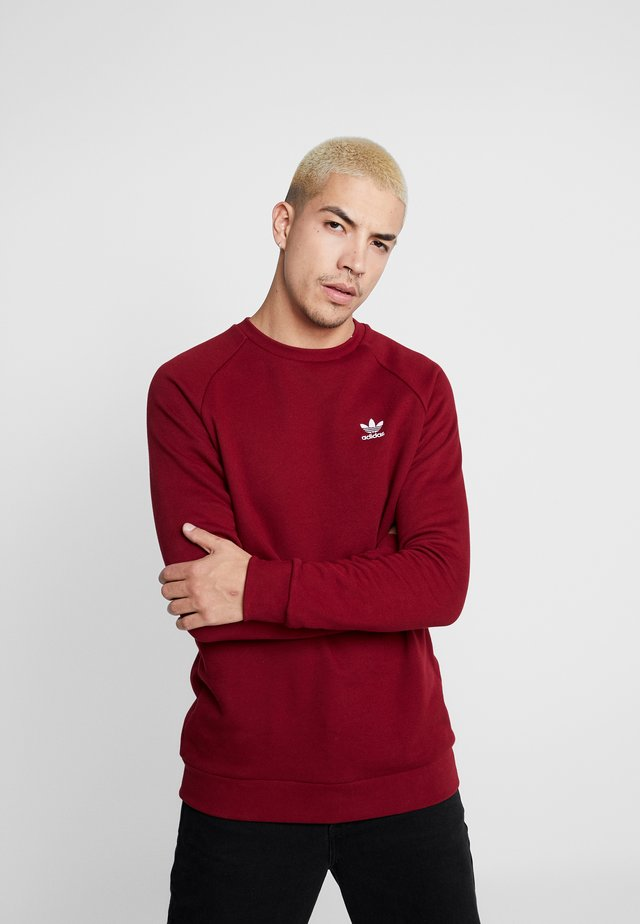 TREFOIL ESSENTIALS LONG SLEEVE PULLOVER - Felpa - collegiate burgundy