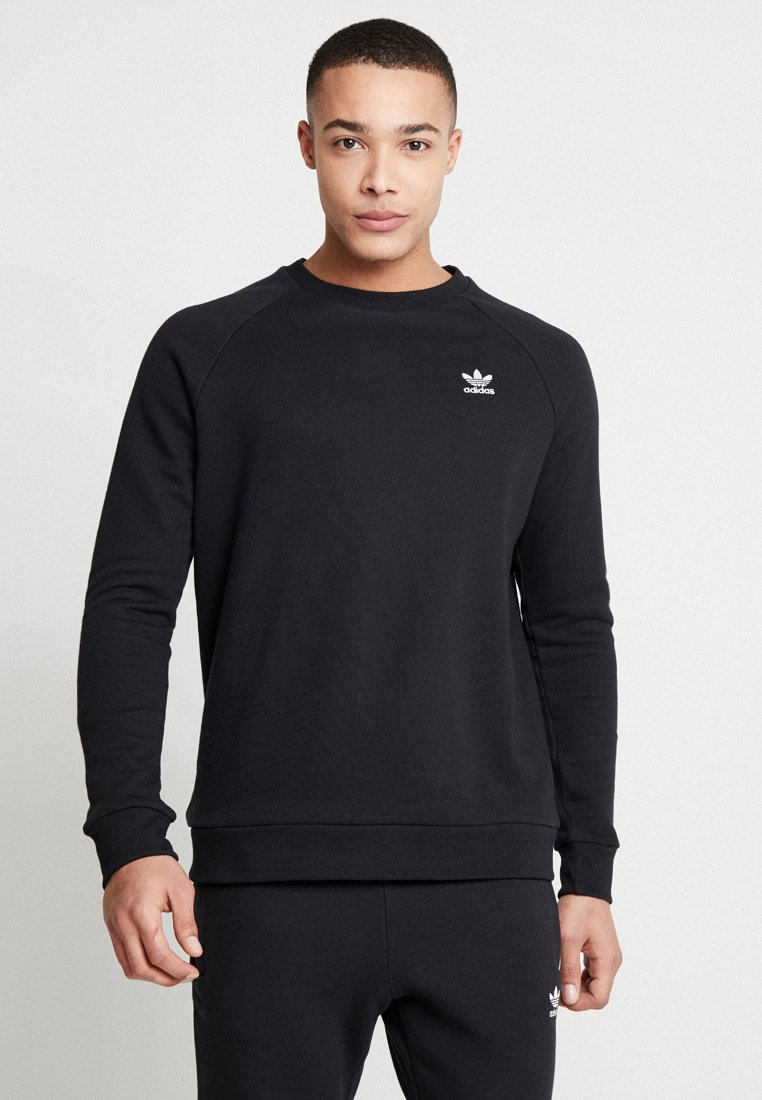 adidas Originals - ESSENTIAL TREFOIL PULLOVER - Sweatshirt - black