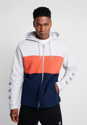 PT3 Full Zip Hoodie - Hoodie met rits - light grey/orange/navy