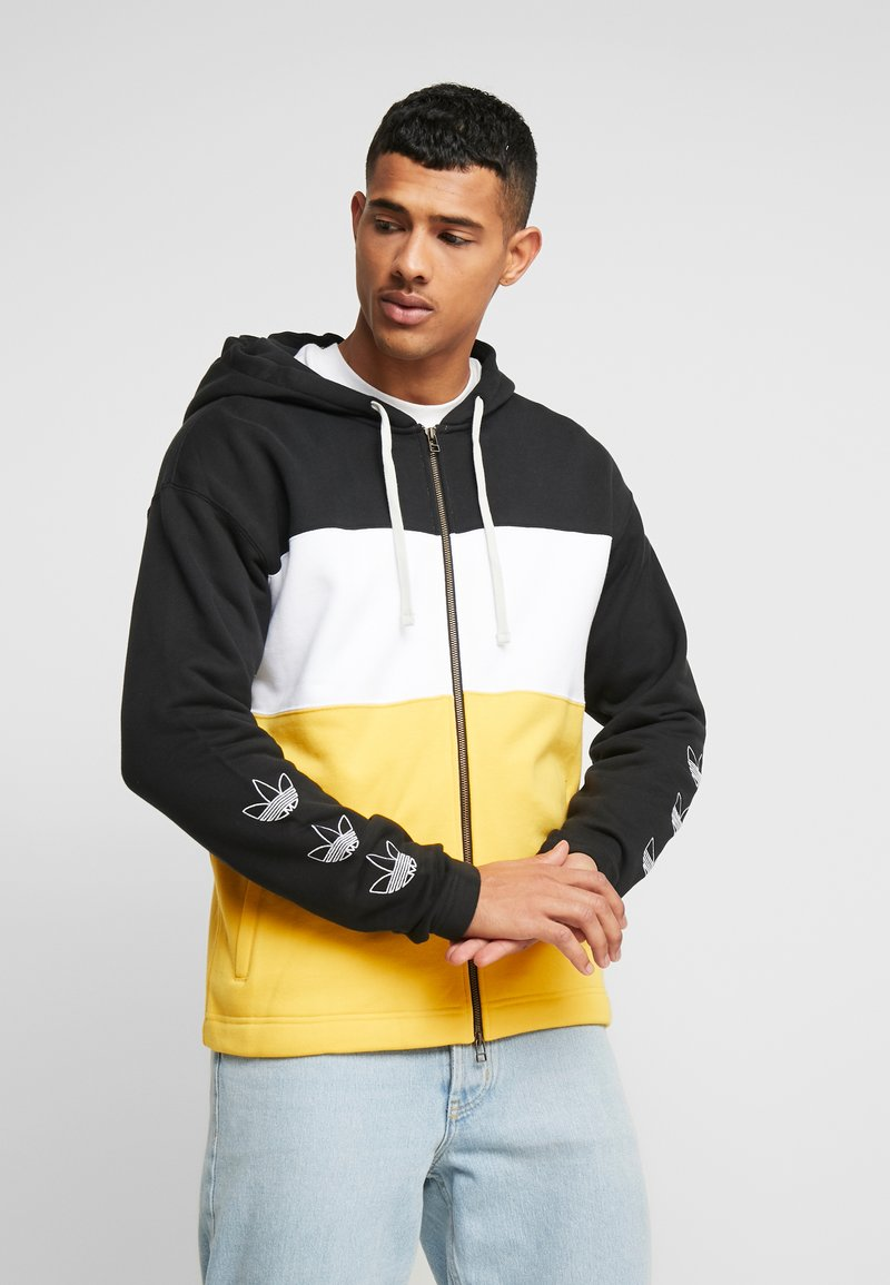 adidas Originals - PT3 Full Zip Hoodie - Collegetakki - black/white/gold