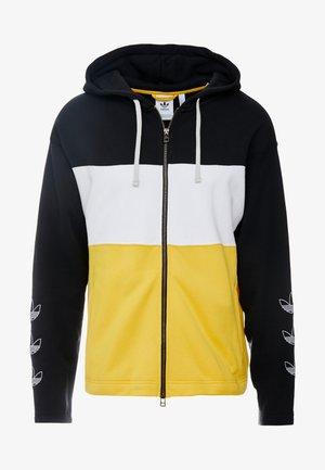PT3 Full Zip Hoodie - Huvtröja med dragkedja - black/white/gold