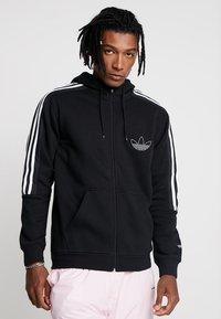 adidas Originals - OUTLINE - Hoodie met rits - black - 0