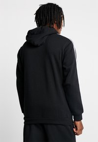 adidas Originals - ADICOLOR 3 STRIPES HALF-ZIP HOODIE - Hoodie - black - 2