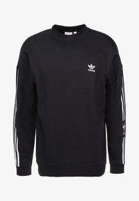 adidas Originals - ADICOLOR TECH PULLOVER - Collegepaita - black - 4