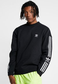 adidas Originals - ADICOLOR TECH PULLOVER - Collegepaita - black - 0